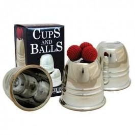 Plastic Chrome Cups & Balls