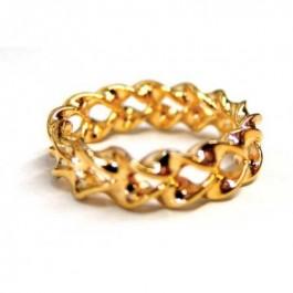Optical Illusion Gold Ring