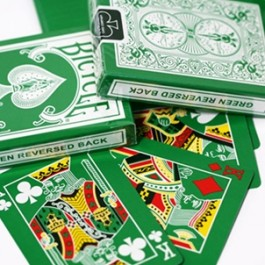 Reversed Back Bicycle Deck - Green (Bicycle Green Deck 2nd Generation)
