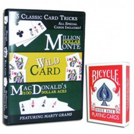 Essential Gaffed Bicycle Deck with Bonus DVD Marty Gram's 3 Classic Card Tricks