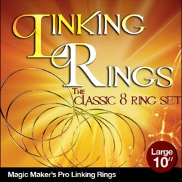 Linking Rings Large 10 inch Set of 8 Rings with DVD