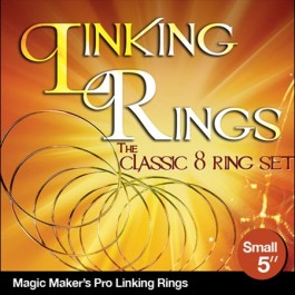 Linking Rings Small 5 inch Set of 8 Rings with DVD