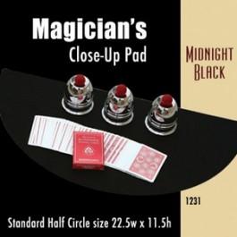 "Standard Half Circle Close-up Pad (Midnight Black) 22.5"" x 11.5"""