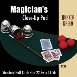 """Standard Half Circle Close-up Pad (Hunter Green) 22.5"""" x 11.5"""""""