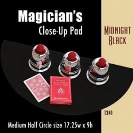 "Medium Half Circle Close-up Pad (Midnight Black) 17.25"" x 9"""
