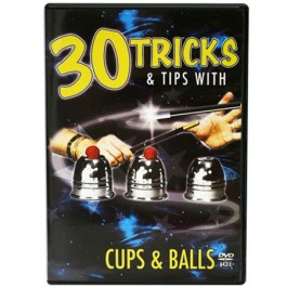 30 Tricks Cups and Balls DVD in Standard Plastic Case with Cups & Balls
