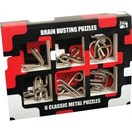 6 Classic Metal Puzzle Set