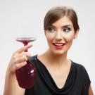 Upside Down Wine Glass