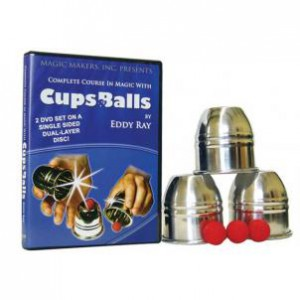 Cups & Balls DVD Combo with aluminum cups & balls