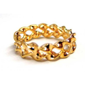 Optical Illusion Gold Ring