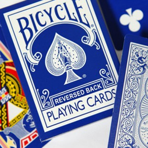 Reversed Back Bicycle Deck - Blue (Blue Ice Deck 2nd Generation)