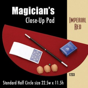 "Standard Half Circle Close-up Pad (Imperial Red) 22.5"" x 11.5"""