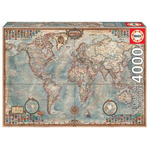 World Map 4000 piece Jigsaw Puzzle