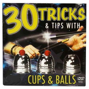 30 Tricks Cups and Balls DVD in Compact Sleeve with Cups & Balls
