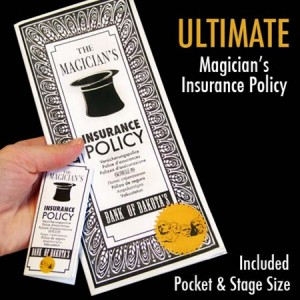 Ultimate Magician's Insurance Policy - Professional Version Street & Stage Sizes Included