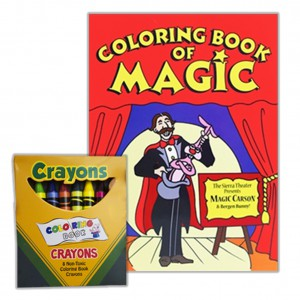 MAGIC COLORING BOOK WITH VANISHING CRAYONS KIT