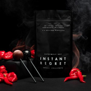 INSTANT REGRET CHILLI CHOCOLATE LOLLIPOPS