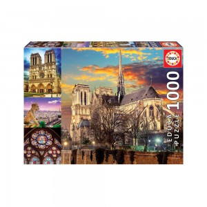 Collage Notre Dame - 1000 piece Jigsaw Puzzle