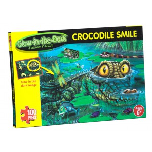 Glow in the Dark Crocodile Smile - 100 piece Puzzle