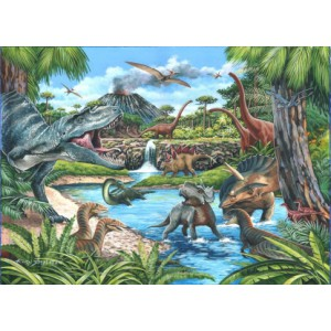 Dinosaurs - Big 500 piece quality puzzle designed by House Of Puzzles
