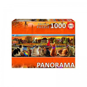 Cats on the Quay 1000 piece Panorama Jigsaw Puzzle