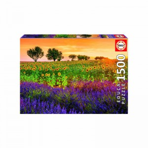 Field of Sunflowers and Lavender 1500 piece Jigsaw Puzzle