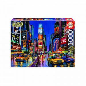 Neon Times Square, New York - 1000 piece Jigsaw Puzzle