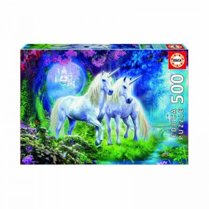 Unicorns in the Forest 500 piece Jigsaw Puzzle