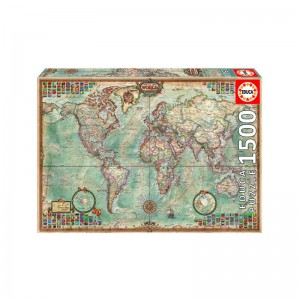 Political Map of the World 1500 piece Jigsaw Puzzle