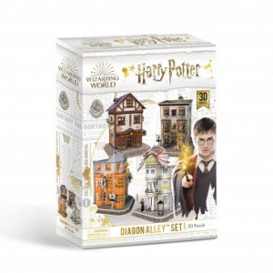 Harry Potter - Diagon Alley 4-in-1 3D Puzzle Set