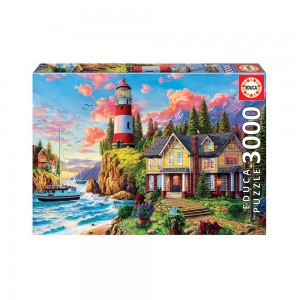 Lighthouse & Cottage 3000 piece Jigsaw Puzzle