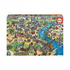 London City Map - 500 piece Jigsaw Puzzle