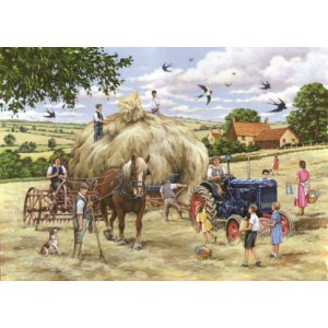 Making Hay - Big 500 piece quality puzzle designed by House Of Puzzles