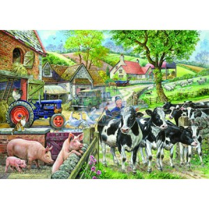 Oak Tree Farm - Big 500 piece quality puzzle designed by House Of Puzzles