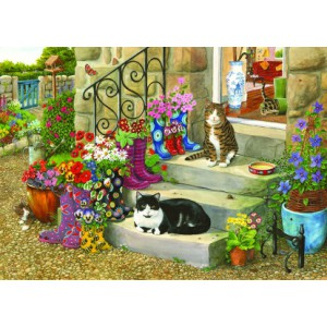 Puss 'n' Boots - Big 500 piece quality puzzle designed by House Of Puzzles