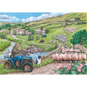 Round Up - Big 500 piece quality puzzle designed by House Of Puzzles