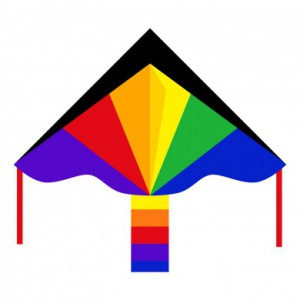 Simple Flyer Rainbow Kite 120 cm