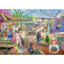 At The Garden Centre - 1000 piece quality puzzle designed by House Of Puzzles
