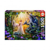 Dragon, Princess and Unicorn 1500 piece Jigsaw Puzzle