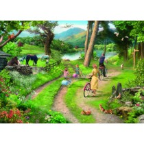 Family Day Out - Big 250 Piece quality puzzle by House Of Puzzles