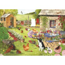 Grandma's Garden - Big 500 piece quality puzzle designed by House Of Puzzles