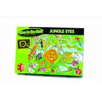 Glow in the Dark Jungle Eyes - 100 piece Puzzle