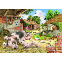 Poppy's Piglets - Big 500 piece quality puzzle designed by House Of Puzzles