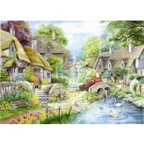 River Cottage - Big 250 Piece quality puzzle by House Of Puzzles