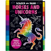 Scratch and Draw: Horses and Unicorns