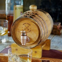 SHARPER IMAGE MINI WHISKEY BARREL