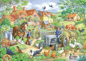 Keeping Busy - Big 250 Piece quality puzzle by House Of Puzzles